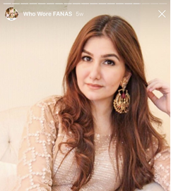 Fanas jewellery women zainab khan earrings fine designer gold gold plated Fashion Pakistan Lahore