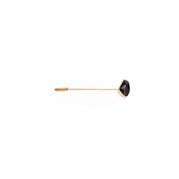 Fanas Jewellery Black Lapel Pin Voyage Men Jewellery Gold Plated Pakistan Lahore fine jewellery
