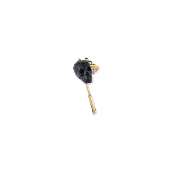 Fanas Jewellery Dark Skull Brooch Lapel Pin Voyage Women Jewellery Gold Plated Pakistan Lahore fine jewellery
