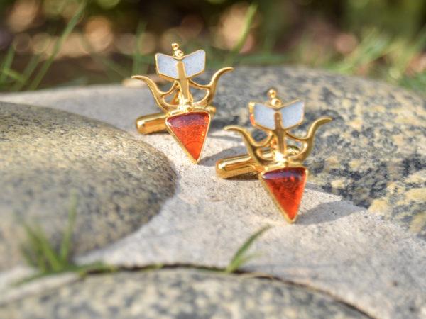 Fanas jewellery Sagittarius Cuff Links zodiac collection Men Gold plating fine jewllery Fashion Pakistan Lahore