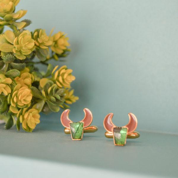 Fanas jewellery Taurus Earrings zodiac collection Women Gold plating fine jewllery Fashion Pakistan Lahore