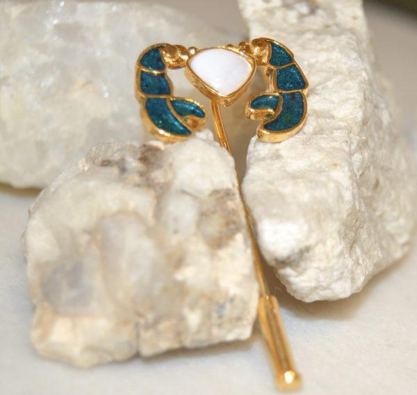 Fanas jewellery Cancer Lapel Pin zodiac collection Men Gold plating fine jewllery Fashion Pakistan Lahore