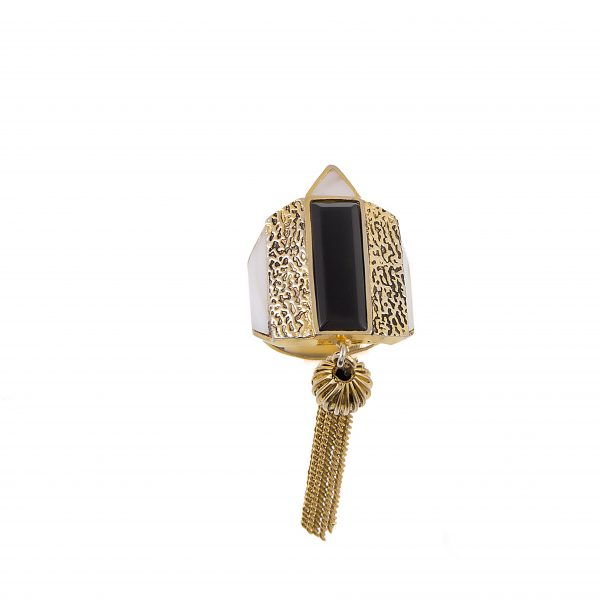 Fanas Gold plated Jazz Tassel Ring Allure of the Ages Women Jewellery Gold