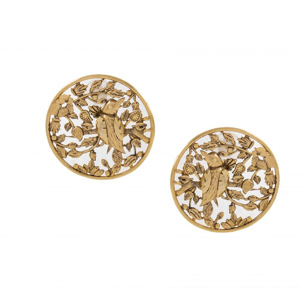 Fanas jewellery Dahlia Earrings wedding collection Women Gold plating fine jewllery Fashion Pakistan Lahore