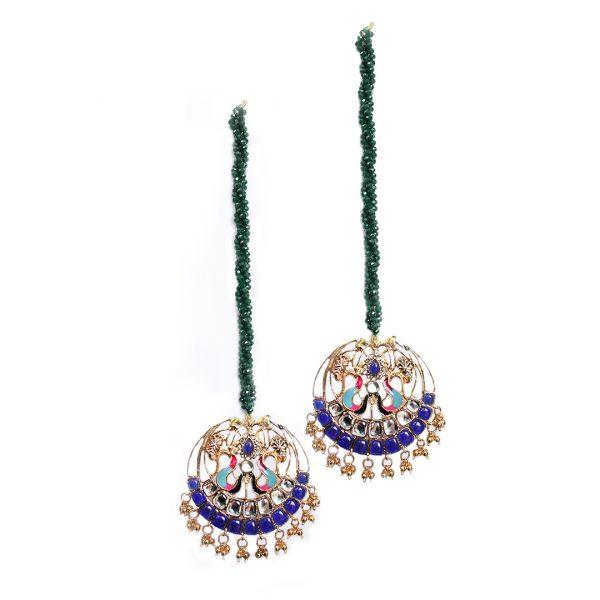 Fanas Dancing Peacocks Earrings with Emeralds Askari Women Jewellery Gold earrings