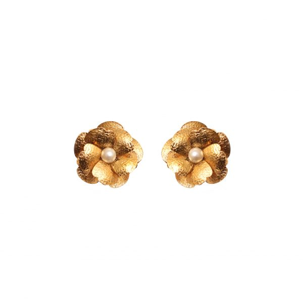 Fanas Poppy Pearl Earrings Allure of the Ages Women Jewellery Gold
