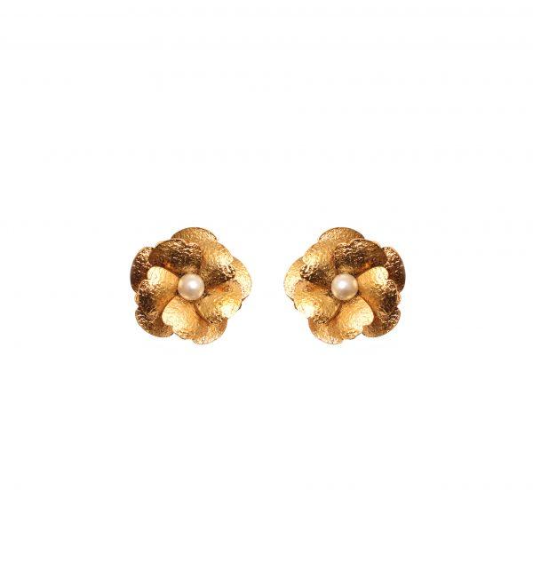Fanas Poppy Pearl Earrings Allure of the Ages Women Jewellery Gold