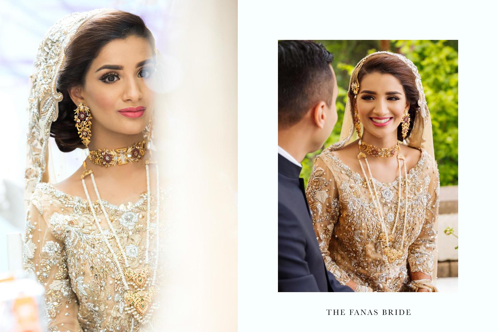 Fanas jewellery bespoke bridal beautiful traditional wedding collection Women Gold plating fine jewllery handmade earrings set rubies zircons Fashion Pakistan Lahore