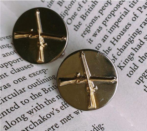 Fanas jewellery Cuff links for Pakistan Ordnance Factories Gold plating Pak Army Zindabad Fashion Pakistan Lahore