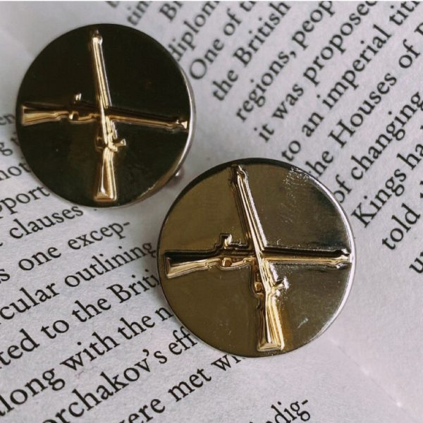 Fanas jewellery Cuff links for Pakistan Ordnance Factories Gold plating Pak Army Zindabad Fashion Pakistan Lahore