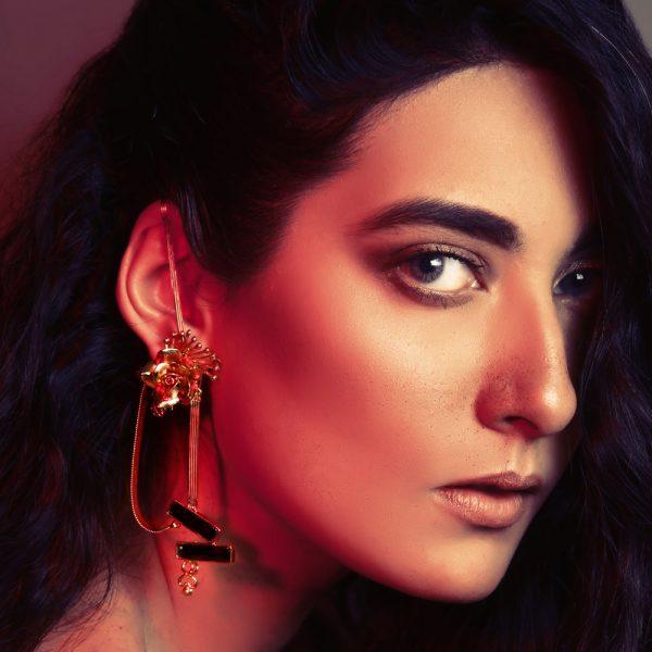 Fanas Jewellery Wild Rose Garden Gold Earrings Voyage Women Jewellery Gold Plated Pakistan Lahore fine jewellery