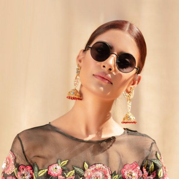 Fanas Jahanara Earrings With Ru Swarovski Askari Women Jewellery Gold earrings