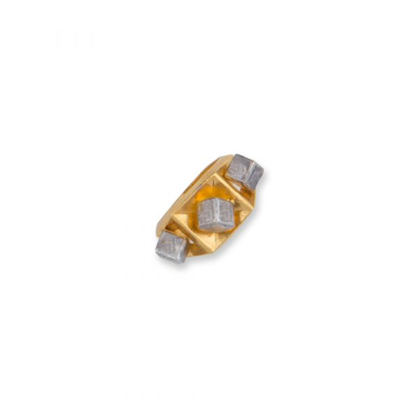 Fanas Jewellery Gold Plated Cube Ring with Rhodium Cubes Voyage Women Jewellery Gold Plated Pakistan Lahore fine jewellery