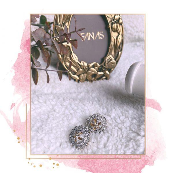 Fanas jewellery Zircon Earrings for her Women Gold plating pearl Fashion Pakistan Lahore