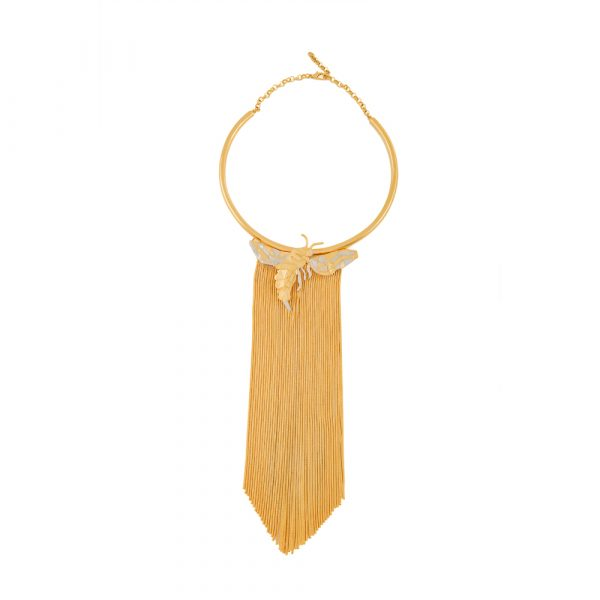 Fanas Gold Plated Statement Fringes Choker crossover collection Women Gold plating pearl Fashion Pakistan Lahore