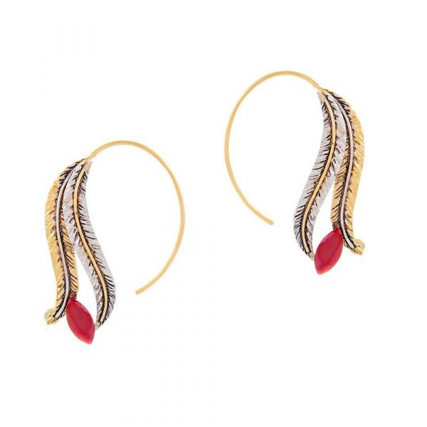 Fanas Gold Plated Feather Ear Cuffs crossover collection Women Gold plating pearl Fashion Pakistan Lahore