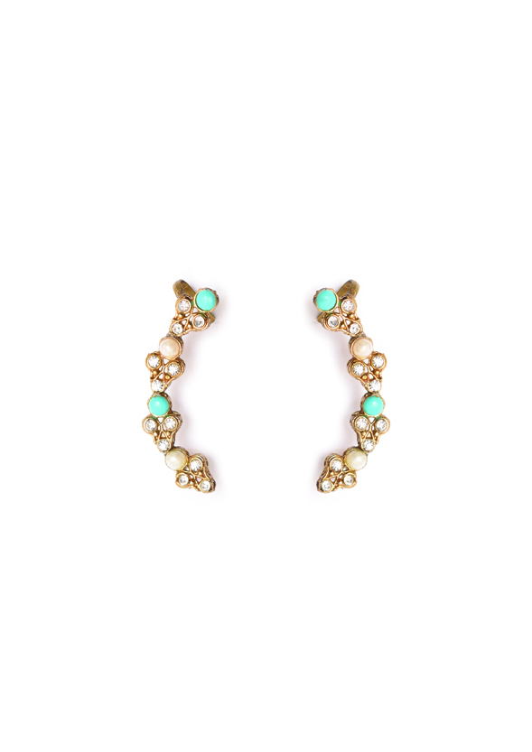 Fanas Jewellery Pearl Ear cuffs Allure of the Ages Women Jewellery Gold Pakistan Lahore