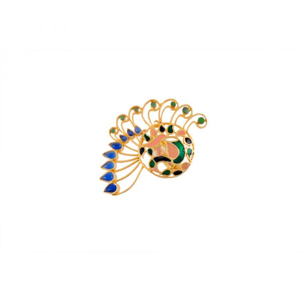 Fanas jewellery Peacock Ring wedding collection Women Gold plating fine jewllery Fashion Pakistan Lahore