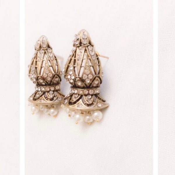Fanas jewellery Tanrica Earrings Askari collection Women Gold plating fine jewllery Fashion Pakistan Lahore
